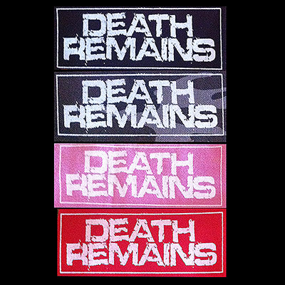 Death Remains Fabric Patch