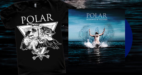 Polar Tshirt + 'Shadowed By Vultures' Vinyl LP