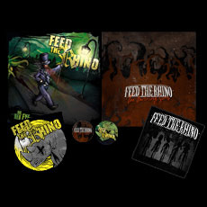 Feed The Rhino - The Burning Sons CD & Mr Red Eye CD Saver